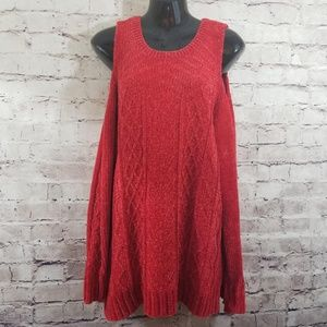 Gibson Latimer Plus Cold Shoulder Sweater